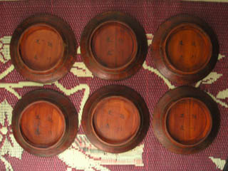 19th Century Chinese Wooden Wedding Bowls