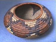 Early 20th C. Coiled Arts & Crafts Indian-Style Basket