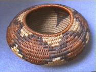 Coiled Arts & Crafts Indian-Style Basket