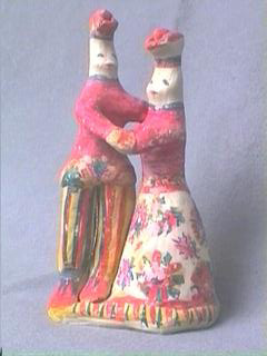 Vintage Russian Arkhangelsk Folk Art Clay Figure