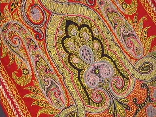 Early 20th Century Wool Paisley Scarf