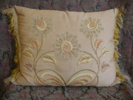 Arts and Crafts Embroidered Pillow